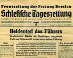 Zeitung aus der Festung Breslau aus den letzten Kriegstagen