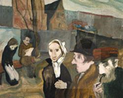 Tischler (Ausschnitt), Öl auf Leinwand, o.T. [Vorortstraße Breslau], SMG  2007/1462, Kauf