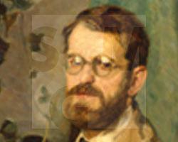 Busch, Öl auf Leinwand o.T. [Porträt Hans Zimbal], SMG 2003/0949, Kauf