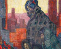 Max Wislicenus, (1861-1957), Flüchtlinge in Polen 1915, 1915, Ölmalerei auf Pappe, SMG 2014/0396, Kauf