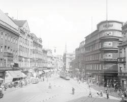 Kaiser-Franz-Josef-Platz in Beuthen an der Oder, 1930er-Jahre, Fotograf unbekannt