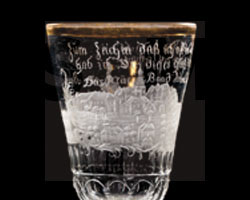 Pokal mit Ansicht von Landeck