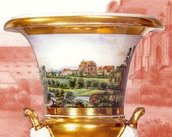Vase mit Motiv Pfarrkirche Kamenz