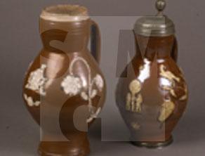 Bunzlauer Keramik mit Auflagen