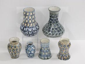 Bunzlauer Keramik mit Pfauenauge-Dekor