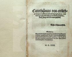 Caspar Schwenckfeld von Ossig: Catechismus von etlichen Hauptartickeln des Christlichen Glaubens. Augsburg 1531.