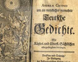 Andreas Gryphius: Teutsche Gedichte. Breslau und Leipzig 1698.