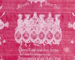 Friedenstuch zum Hubertusburger Frieden am 15. Februar 1763