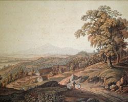 Aussicht von Fürstenstein in Schlesien