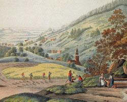 Gegend von Flinsberg in Schlesien