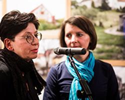 Unheimisch - Ausstellung in der Galerie Brüderstraße, Vernissage am 6.02.2020, mit Agata Pankiewicz, Fot. Jakub Purej (7)