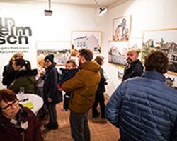 Unheimisch - Ausstellung in der Galerie Brüderstraße, Vernissage am 6.02.2020, Fot. Jakub Purej (11)