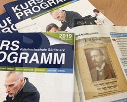 Ausstellung und Begleitprogramm zu Emil Krebs im Kursprogramm der VHS Görlitz 2019