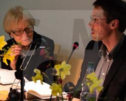 Literaturtage 2016 - Der Schwarze Garten, Buchvorstellung mit Malgorzata Szejnert und Benjamin Voelkel, Fot. Axel Lange