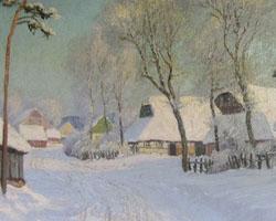 Ohne Titel [Dorf im Winter]